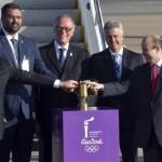 Chama Olímpica chega ao Brasil