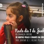 Crianças do mundo, unam-se às da Síria em oração pela paz, pede Papa