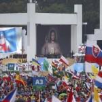 Cerimônia de acolhida dos jovens com o Papa Francisco na JMJ Cracóvia 2016