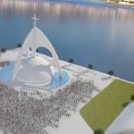 Show para construção da Catedral de Niterói projetada por Niemeyer