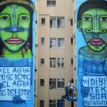 Murais no Rio recordam luta indígena contra hidrelétricas na Amazônia