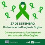 Campanha de doação de órgãos começa nesta terça-feira
