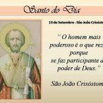 Santo do Dia – São João Crisóstomo – 13/09/2019